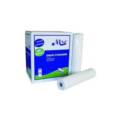 Drap d'examen 50 x 190 cm - 12 rouleaux / carton