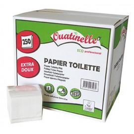 Papier Toilette ecolabel - Feuille à feuille - Carton de 9000 feuilles