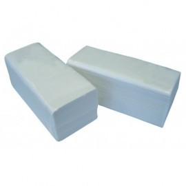 Essuie-mains Feuille à feuille - Enchevêtré 21x21 cm - Colis de 3600 feuilles